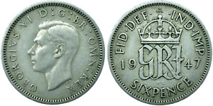 SIXPENCE UK GB GEORGE VI  CHOOSE YOUR DATE!     ONE COIN/BUY!