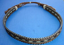 "Western Decor Cowboy HAT BAND Woven 7 Strand Horsehair With Tassels 7/8"" Wide"