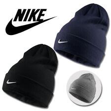 Nike Adult One Size Light Blue Beanie Hat Metal Swoosh 803734-443 Free Postage