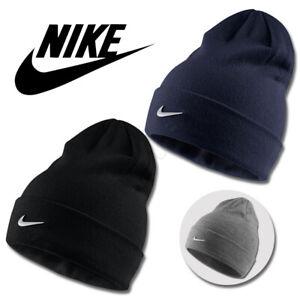 Nike Beanie Hat Junior Kids Swoosh Sports Winter Warm Boys Girls Black Grey Navy