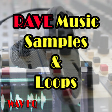 🥇 Library of RAVE samples and Loop, 1300 WAV audio techno sound library music.