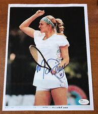 Mary Pierce Hot! signed tennis 8.5x11 COLOR PRINT JSA COA