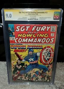 Sgt Fury and His Howling Commandos 13 CGC 9.0 Stan Lee & Dick Ayers Signed