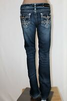 L.A. IDOL U.S.A. Junior Women's Size 7 Bling Embellished Flare Boot Jeans
