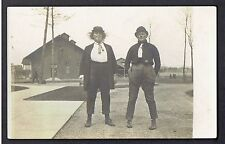 RPPC Real Photo Postcard Two Women Men's Clothing Crossdress ~ Lesbian Interest