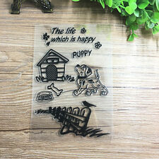 Dog Silicone Rubber Clear Stamp Seal Scrapbooking Diary Christmas Card
