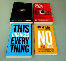 4 Books NAOMI KLEIN SHOCK DOCTRINE Trump DISASTER CAPITALISM NO LOGO psychedelic