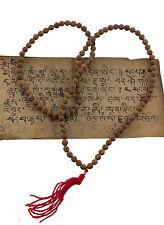 Collier rosaire  graines de Rudraksha Mala tibetain Shiva Sautoir Ø 7mm 1990