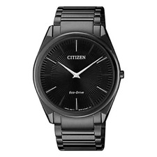 Citizen Men's Watch Eco Drive Black Stainless Steel Bracelet AR3079-85E
