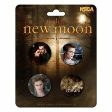 Twilight Team Edward Cullen & Bella Swan New Moon 4 Buttons Pins Anstecker NECA