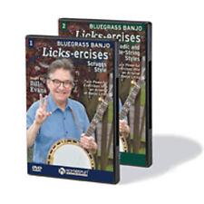 Bluegrass Banjo Licks-Ercises 2-DVD Set Exercises NEW 000173471