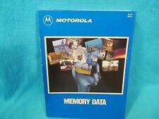 Motorola Memory Data Reference Book 1989