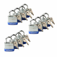 12pc KEYED ALIKE 40mm Heavy Duty Laminated Steel Padlocks Set Security Locks New