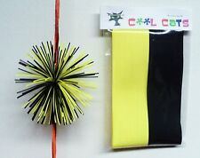 Yellow/Black Colored Rubber Cat Whiskers Archery Bowstring Silencers Spider Legs