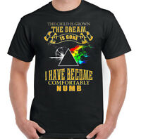 PINK FLOYD T-SHIRT, Mens Dark Side of the Moon Comfortably Numb Unisex Tee Top