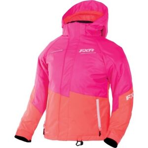 FXR™ Youth Fresh Fuchsia/Electric Tangerine Snowmobile Jacket 170401-9035-XX