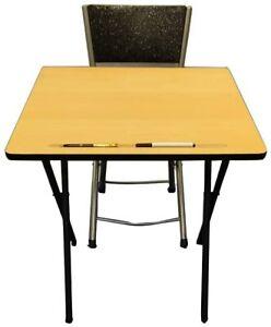 Exam Study Classroom Market stall Expo Laptop Computer Folding Table Chair Set