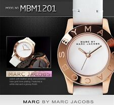 MARC BY JACOBS WOMEN'S WHITE LEATHER WATCH MBM1201