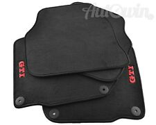 Floor Mats for Volkswagen Golf V with GTI Emblem and Clips LHD Side NEW