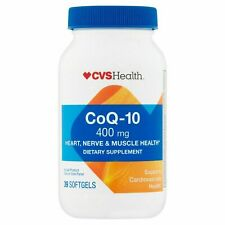 CVS CoQ-10 Softgels 400mg, 39 Ct Exp:4/2022