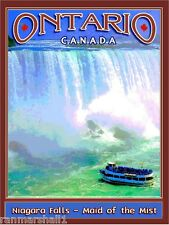 Ontario Canada Niagara Falls Maid of the Mist Canadian Tvl Advertisement Poster