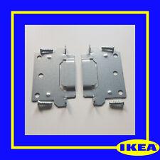 116791 X 2 (110789) IKEA BED FRAME MOUNTING PLATE FOR FRAMES MALM, HEMNES, HOPEN