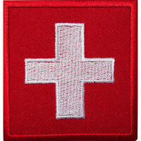 Switzerland Flag Embroidered Iron / Sew On Clothes Swiss Patch Jacket Bag Badge