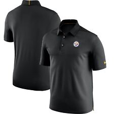 Nike Dri-fit Mens Polo Shirt Black Size Large L NFL Pittsburgh Steelers  Football 1941f91a2