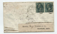 1878 3ct banknote cover NY to France and forwarded [y4919]