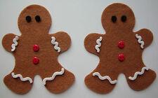 Felt Gingerbread Man x2 - Card Topper/Embellishment/Christmas