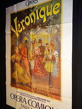 VERONIQUE opera comique  ! rare affiche cinema theatre 1978  le paris 1900