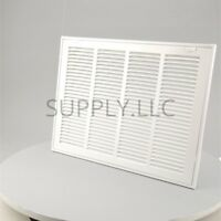 """FILTER RETURN VENT COVER 14"""" x 20"""" Duct Size White Air Grille Ceiling Wall"""