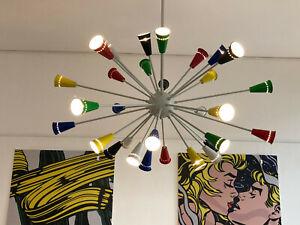 Sputnik Lampe XXL (D 125cm) Design Decken Pendel Leuchte 30-armig Vintage