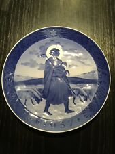 Royal Coppenhagen Christmas Plate 1957 Den Gode Hyrde The Good Shepherd