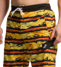 NEW TYR SWIM TRUNKS SWIM SUIT BOARD SHORTS MENS L GOLD MULTICOLOR FREE SHIP