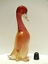 Archimede Seguso Sommerso Murano Glass Penguin with Encased Powdered Gold