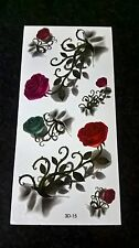 Body Art - Roses - Temporary Tattoos  3D-15 Free Post