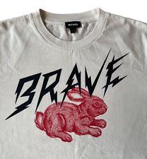 NWOT DIESEL Men's Brave Rabbit Logo Short Sleeve T-Shirt WHITE Size S
