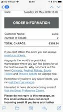 2 x Rolling Stones / Liam Gallagher Tickets London 22nd May - Standing/ Pitch