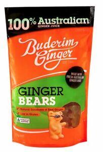 Buderim Ginger - Ginger Bears - Carton (8 x 175g Bags)