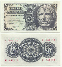 BILLETE DE 5 PESETAS DE 1947 (SC) SÉNECA (SERIE C)