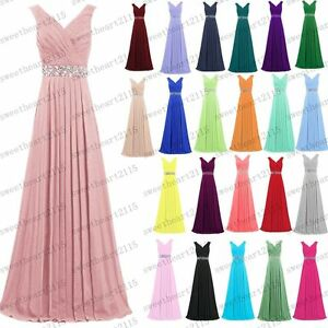 Hot Formal Long Evening Ball Gown Party Prom Bridesmaid Dresses Custom Size 6~28