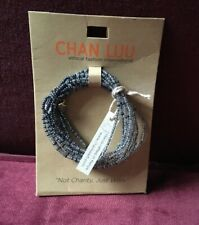 Chan Luu Ethical Fashion Gray Seed Bead Stretch Bracelet - NEW!