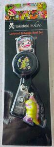 NEW-Koi Tokidoki *Laynard & Badge Reel Set* Laynard+ Retractable ID Badge-NEW