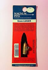 Bullet Pin * 9mm Luger Gun * Vintage 70's Pin * Deadstock * REAL 9mm BULLET Pin