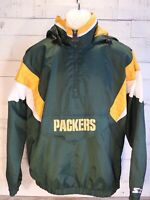 ☄️Starter Green Bay Packers NFL Hooded Pullover Jacket (L) ** New with Tags