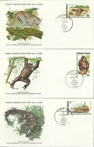 TOGO 1977 WORLD WILDLIFE FUND ILLUSTRATED FIRST DAY COVER SET