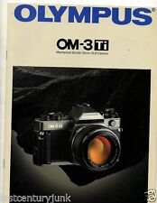 Photography Reference Guide For Olympus OM-3 Ti