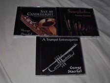LOT of GEORGE STAERKEL CD's Private Saxophone Trumpet Lounge Cocktail Jazz