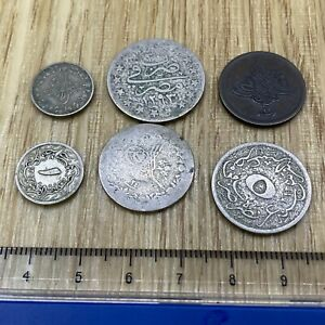 6x Mixed Middle East Coins- Egypt (ref #54)